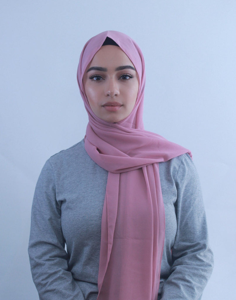 Dusty Pink Chiffon Hijab-Hijabs-Urban Modesty Inc.