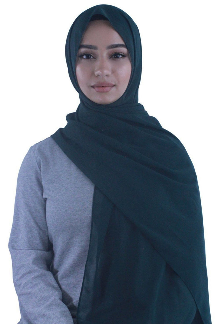 Evergreen Chiffon Hijab - Abaya, Hijabs, Jilbabs, on sale now at UrbanModesty.com
