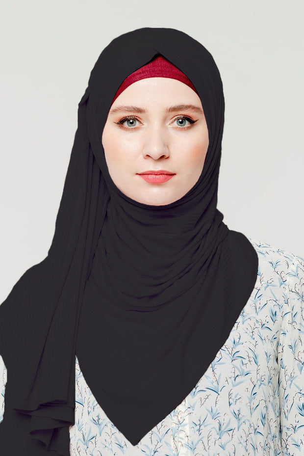 Ribbed Jersey Hijab  (More Colors Available)