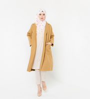 Ginger Oversized Belted Wool Modest Coat-CLEARANCE