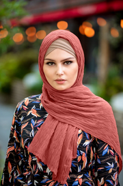 Chevron Pleated Chiffon Hijab (More colors available)