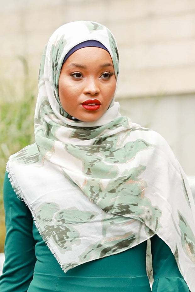 Green Marble Hijab - Abaya, Hijabs, Jilbabs, on sale now at UrbanModesty.com