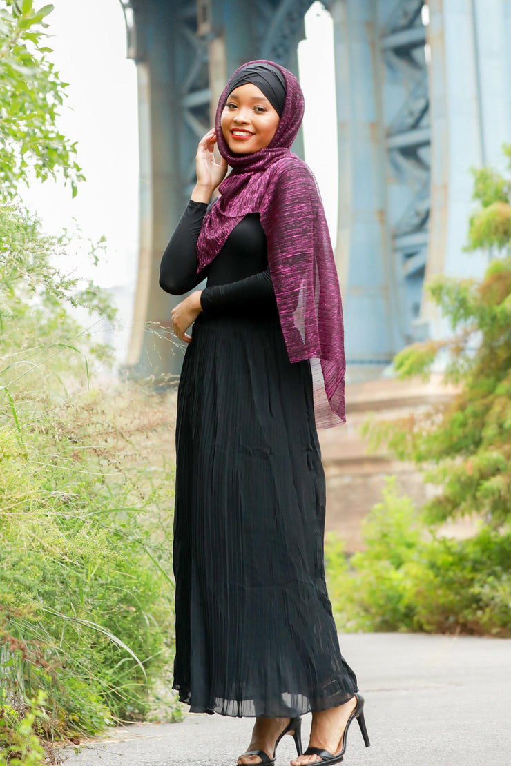 Black Pleated Chiffon Maxi Skirt-Clearance - Abaya, Hijabs, Jilbabs, on sale now at UrbanModesty.com