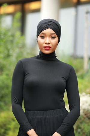 Black Turtle Neck Top - Abaya, Hijabs, Jilbabs, on sale now at UrbanModesty.com