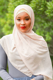 Soft Pink Pearl Chiffon Hijab - Abaya, Hijabs, Jilbabs, on sale now at UrbanModesty.com