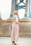 Alaina Long Sleeve Evening Gown-Clearance - Abaya, Hijabs, Jilbabs, on sale now at UrbanModesty.com