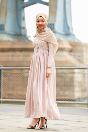 Alaina Long Sleeve Evening Gown - Abaya, Hijabs, Jilbabs, on sale now at UrbanModesty.com