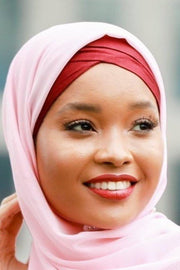 Maroon Criss-Cross Hijab UnderScarf-Clearance - Abaya, Hijabs, Jilbabs, on sale now at UrbanModesty.com