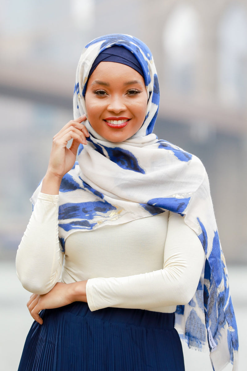 Blue Marble Hijab - Abaya, Hijabs, Jilbabs, on sale now at UrbanModesty.com