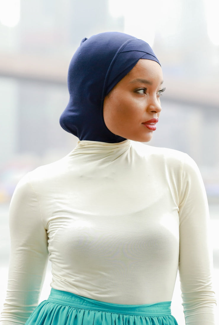 Cream Turtle Neck Top - Abaya, Hijabs, Jilbabs, on sale now at UrbanModesty.com