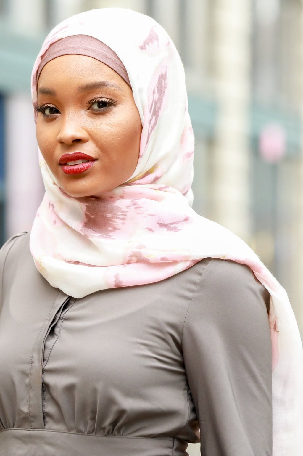 Pink Marble Hijab - Abaya, Hijabs, Jilbabs, on sale now at UrbanModesty.com