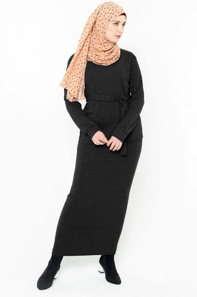 Black Sweater & Skirt Set