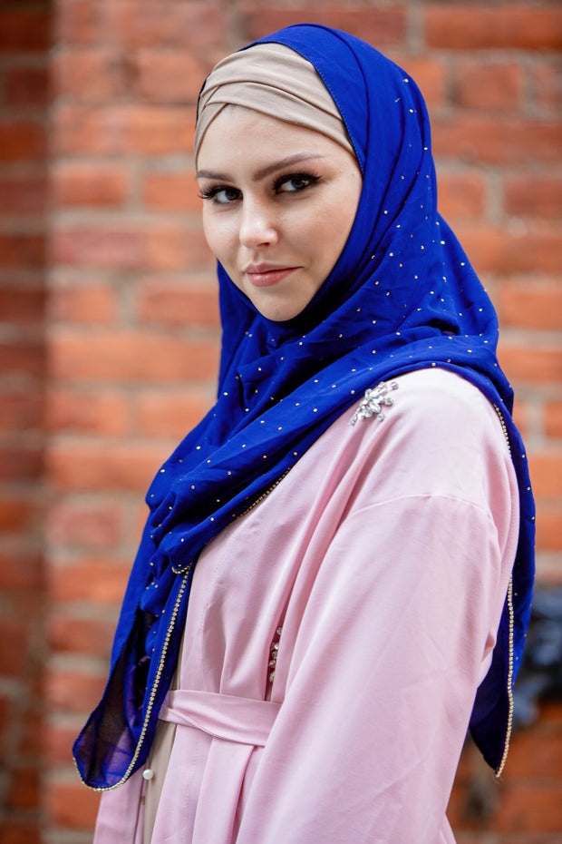 Beaded Chiffon Hijab (More colors available)