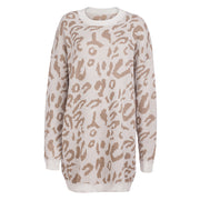 Leopard Print Modest Sweater-CLEARANCE
