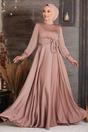 Diana Side Knot Satin Gown