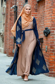 Marrakech Damask Open Front Abaya