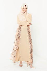 Sequin Love Long Sleeve Evening Gown