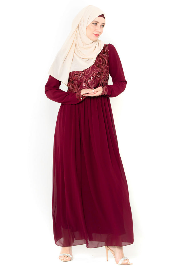 Aliyah Long Sleeve Evening Gown