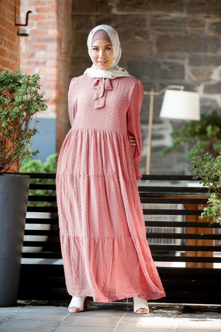 Purely Feminine Textured Maxi Dress (More colors available)