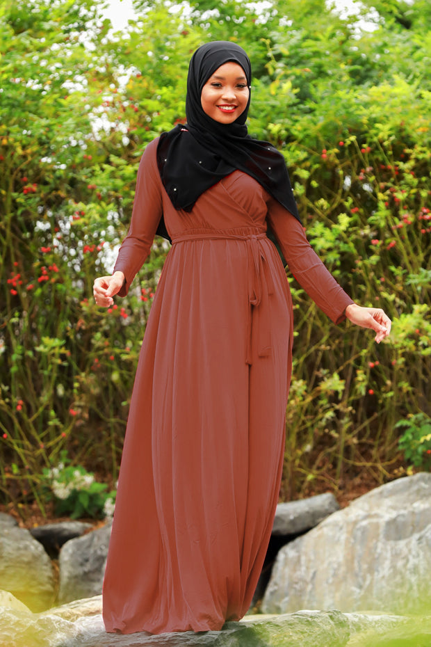 Wondrous Wrap Maxi Dress