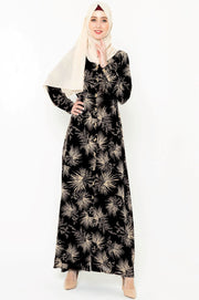 Stardust Black Floral Button Down Maxi Dress