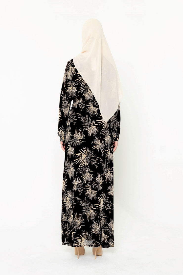 Stardust Black Floral Button Down Maxi Dress-CLEARANCE