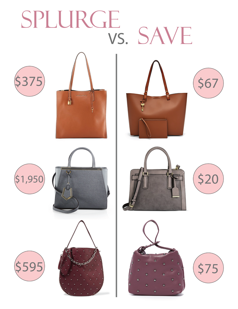 Splurge VS Save - Fall Bags For Less