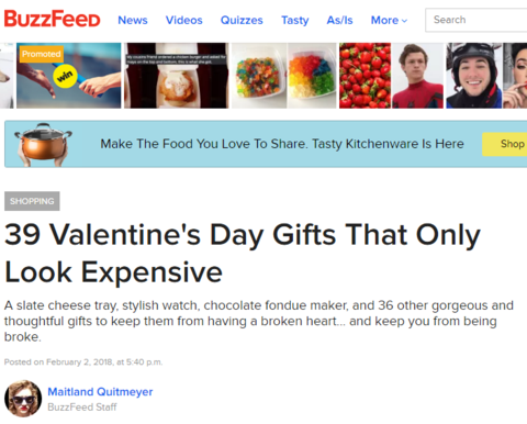 BuzzFeed- Valentine's Day Gift Guide