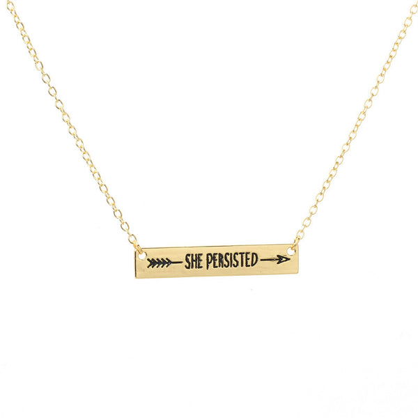 She Persisted Bar Necklace