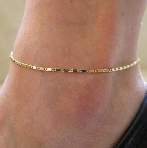 Dainty Chain Anklet - Silver or Gold