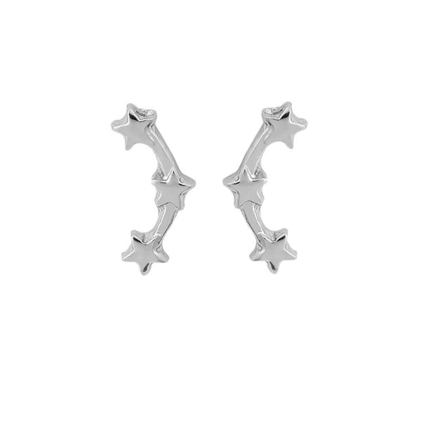 Triple Star Mini Climber Earrings