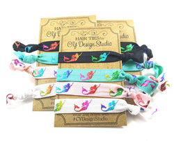 Mermaid Neon Hair Ties Set