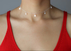 Star Choker Layering Necklace