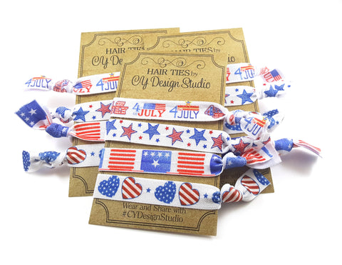 July 4th Hair Ties Set