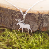 Moose Charm Sterling Silver Necklace