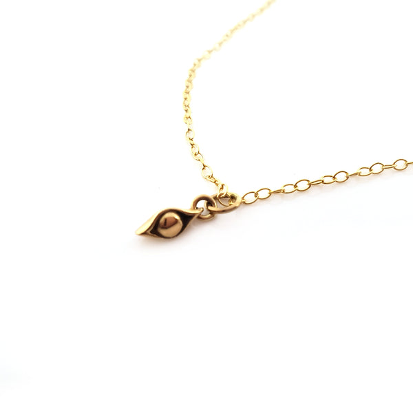 One Pea in a Pod Charm Necklace - Dainty 14k Gold Filled Jewelry