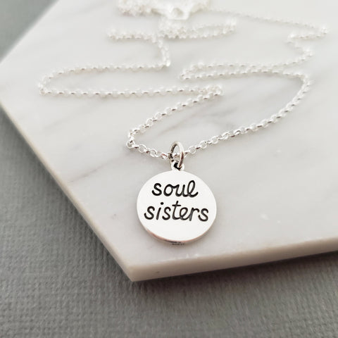 Soul Sisters Necklace - Dainty Sterling Silver Jewelry