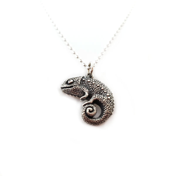 Chameleon Charm - Sterling Silver Necklace