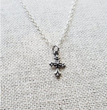 Cross Necklace - Goddaughter Gift - Children's Sterling Silver Jewelry