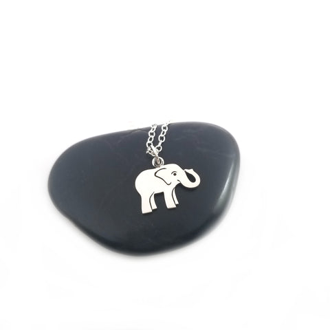 Elephant Necklace - Sterling Silver Jewelry