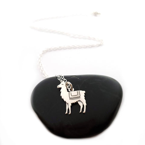 Llama Necklace - Sterling Silver Jewelry