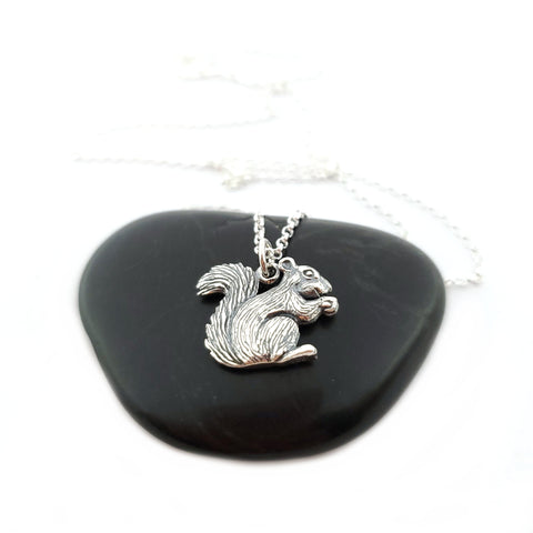 Sterling Silver Squirrel Charm - Animal Charm