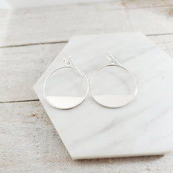 Eclipse Earrings - Sterling Silver Hoops Earrings