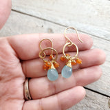 Beata Earrings - Dainty 14k Gold Filled Gemstone Earrings  - Jewelry for Her