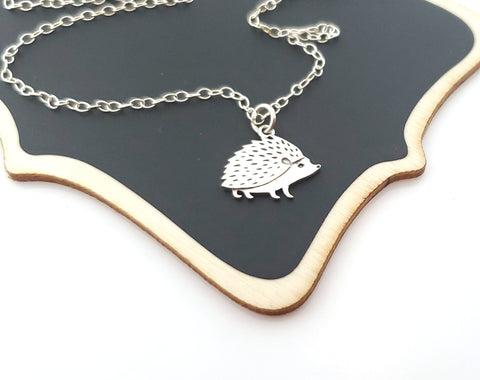 Hedgehog Charm Sterling Silver Necklace