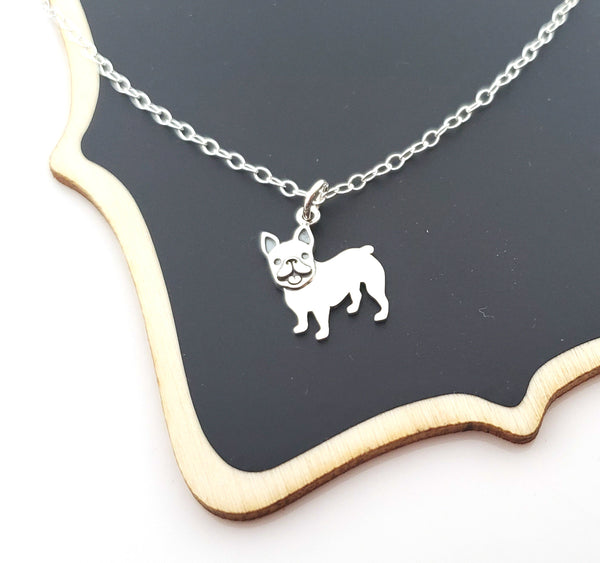 French Bulldog Charm Sterling Silver Necklace