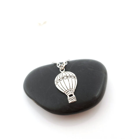 Hot Air Balloon 925 Sterling Silver Necklace