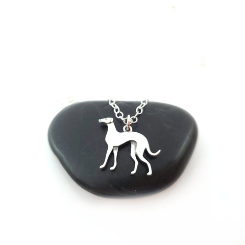 Greyhound Dog 925 Sterling Silver Necklace
