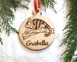 Chameleon Personalized Wooden Christmas Ornament