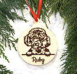 Cockapoo Personalized Wooden Christmas Ornament
